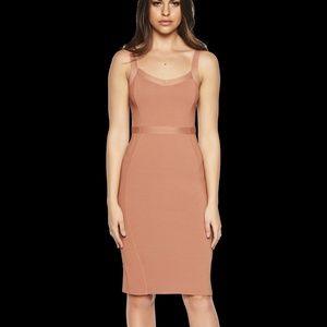 Bardot Katy Knit Dress Chestnut Dark Tan NEW